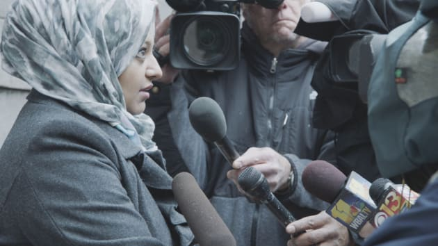 Rabia Chaundra Speaks to Reporters