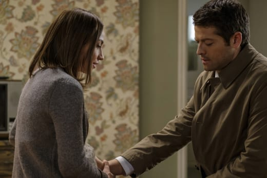 Castiel closes his eyes - Supernatural Season 12 Episode 19
