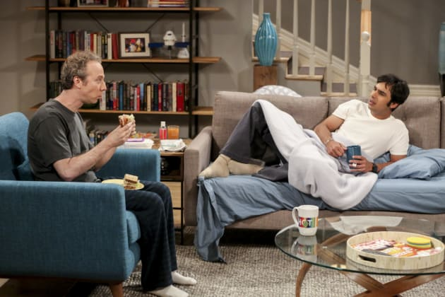 Raj Sleeps on the Couch - The Big Bang Theory Season 10 Episode 18