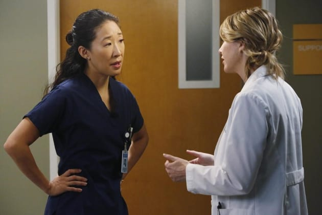 Cristina Doesn't Look Happy