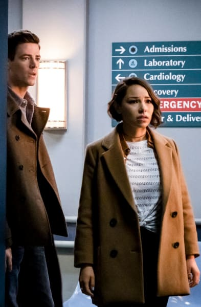 Nora and Barry Shocked - The Flash Season 5 Episode 17