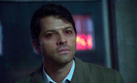 Red eyes Castiel - Supernatural Season 11 Episode 3