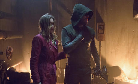 Laurel and the Arrow Assess the Situation