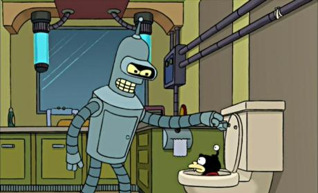 Bender Flushes Nibbler
