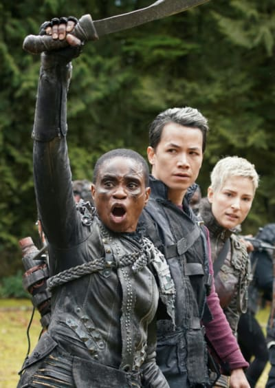 Indra Takes Jordan and Hope To The Last War - The 100 Season 7 Episode 16