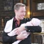 Rex Holds His Baby - Days of Our Lives