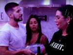 Tension at Dinner - Jersey Shore: Family Vacation