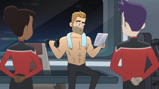 Ransom Hard at Thinking - Star Trek: Lower Decks Season 1 Episode 10
