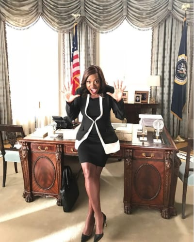 Viola Davis on Scandal Set