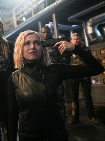 Clarke Pushes Madi - The 100 Season 6 Episode 13