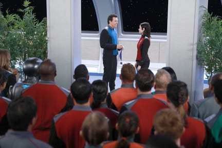 Crew Gathered for Medal Awarding - The Orville Season 1 Episode 2