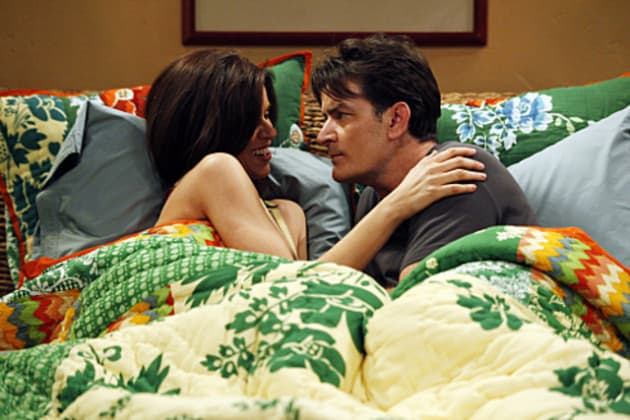 Charlie and Chelsea in Bed