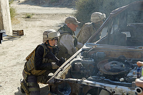 Gibbs and Ziva in Afghanistan