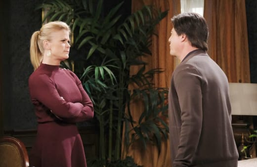 Sami Warns Lucas - Days of Our Lives