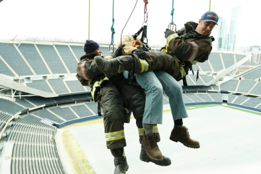 Hanging On a Rescue - Chicago Fire