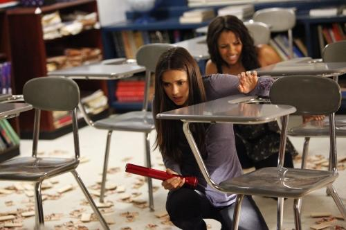 Elena and Bonnie in Classroom