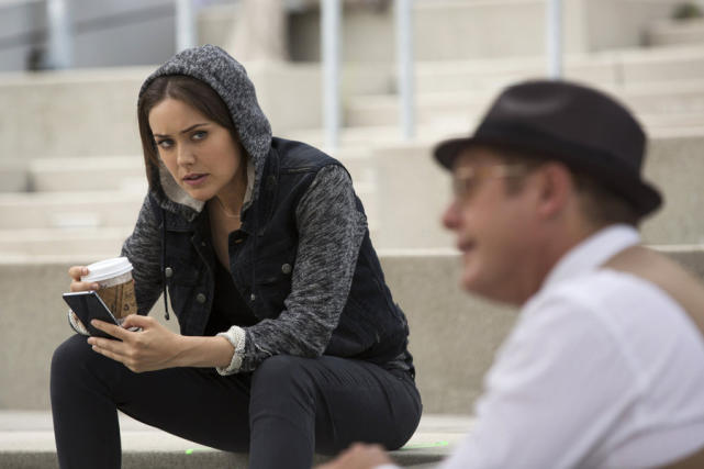 Liz and Red Meet on the Steps - The Blacklist Season 2 Episode 1