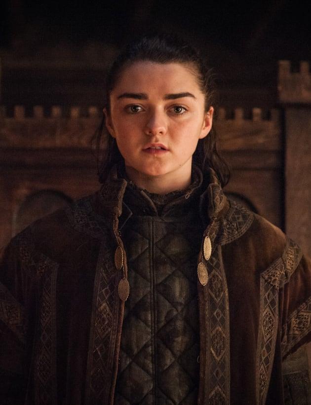 Arya Surprises Tall - Game of Thrones Season 7 Episode 1
