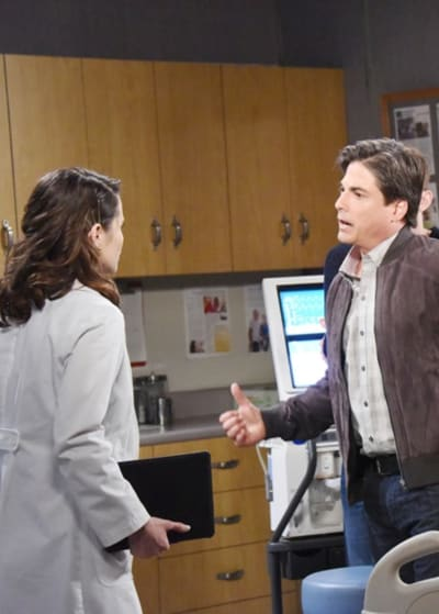 (TALL) Lucas Takes It Out on Sarah - Days of Our Lives