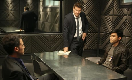 Booth and Aubrey Question a Suspect - Bones Season 10 Episode 22