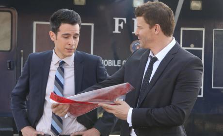 Booth Shows Aubrey Evidence - Bones Season 10 Episode 18