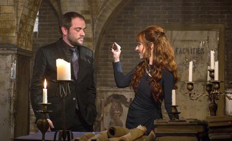 Crowley and Rowena - Supernatural Season 10 Episode 14