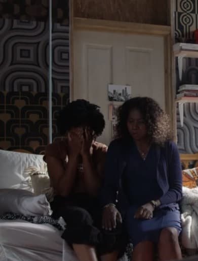 Sandra Comforts Malika - Good Trouble Season 1 Episode 13