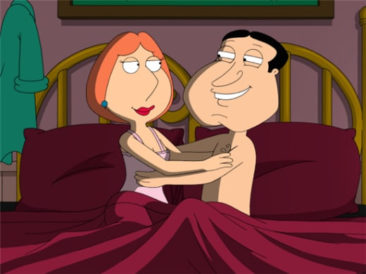 Quagmire and Lois in Bed