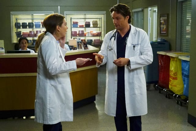 Friendly Debate - Grey's Anatomy Season 13 Episode 23