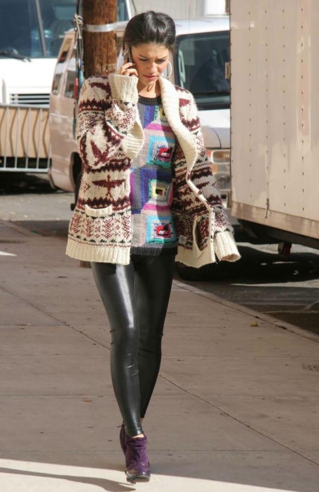 Jessica Szohr Has Purple Shoes