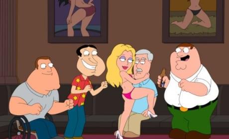 Carter at Strip Club