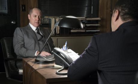 Red is up to his usual antics - The Blacklist Season 4 Episode 9