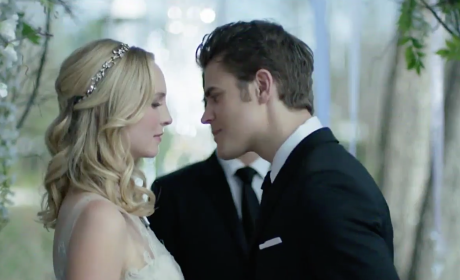 The Vampire Diaries Promo: Will Katherine Ruin the Steroline Wedding?!?