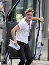 Ed Westwick on the Move