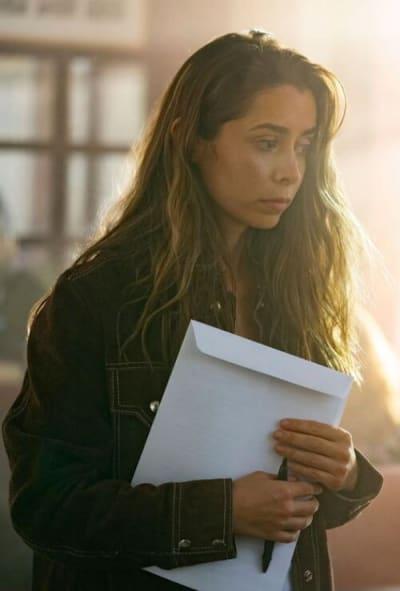 Hazel with divorce papers