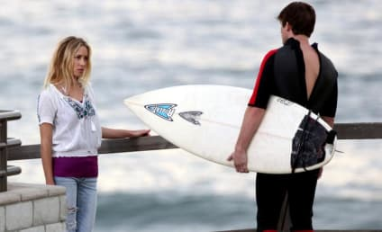 Surfing and Skateboarding: Gillian Zinser and Matt Lanter Film Scenes for 90210