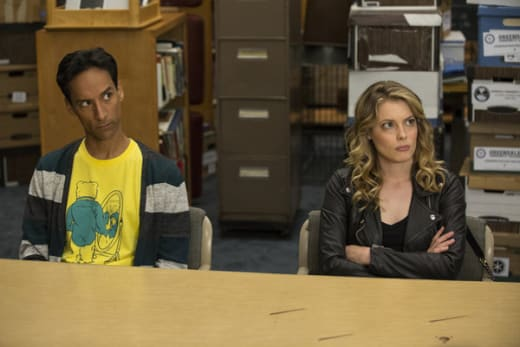 Abed and Britta Pic