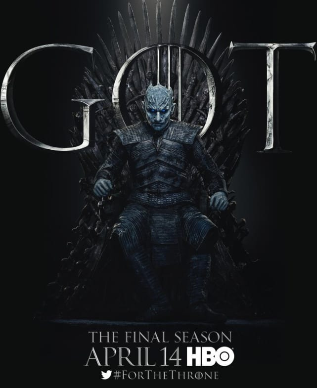 The Night King on the Throne - Game of Thrones