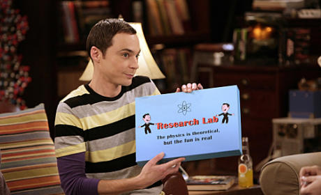 Sheldon Shows Off Board Game