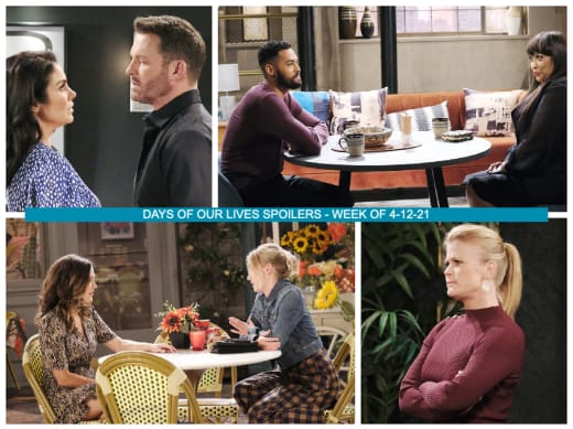 Spoilers for the Week of 4-12 21 - Days of Our Lives