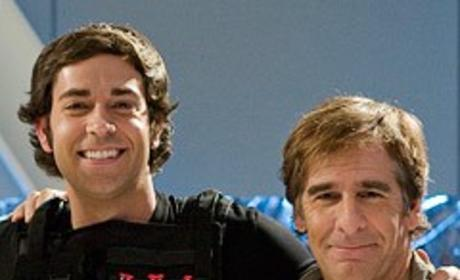 Zachary Levi and Scott Bakula