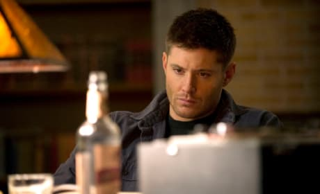 Dean Working with a Drink