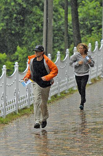 Jill and Thomas Run in the Rain