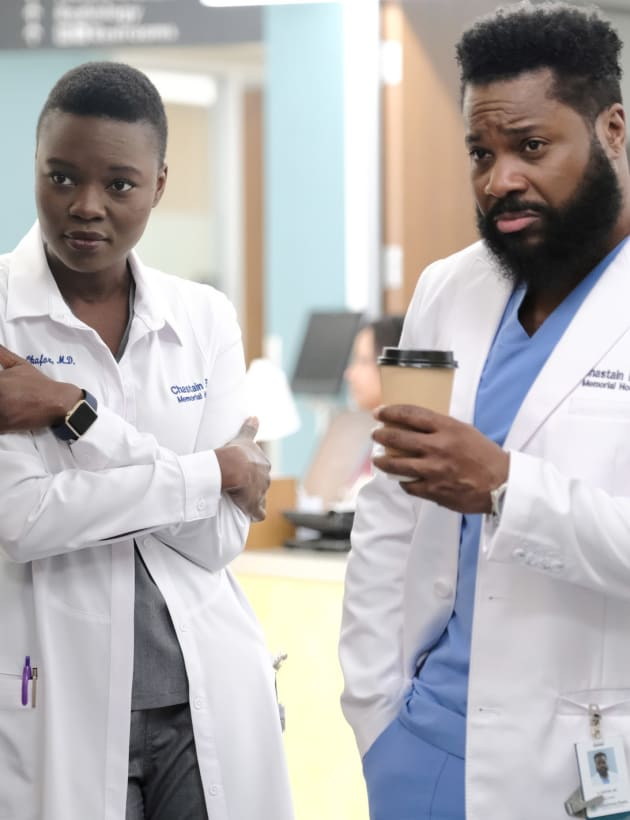 Coffee Break and Swagger - Tall - The Resident Season 2 Episode 20