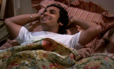 Raj Smiles in Bed