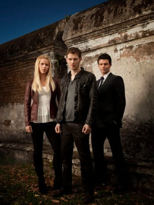 Claire Holt, Daniel Gillies and Joseph Morgan