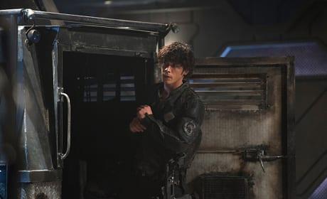 Bellamy Near A Truck - The 100 Season 3 Episode 6