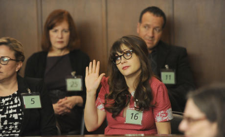 Jess As a Juror - New Girl