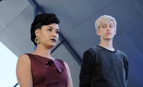 Andy Looking at Reeva - The Gifted Season 2 Episode 3