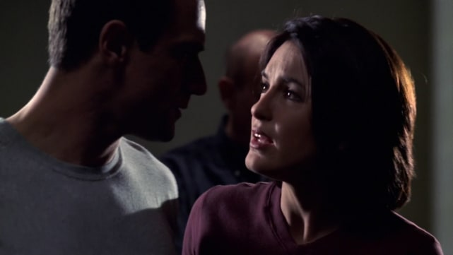 Stabler Protects Benson from a Perp